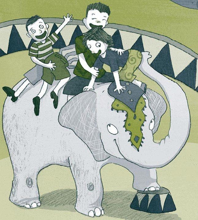 Nos anos 40, a coisa mais legal que poderia acontecer a uma criança era subir num elefante do circo (hoje, é proibido manter animais em circos)